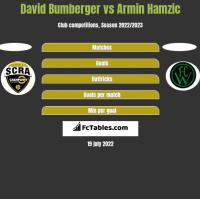 David Bumberger vs Armin Hamzic h2h player stats