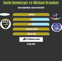David Bumberger vs Michael Brandner h2h player stats