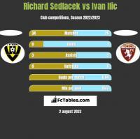 Richard Sedlacek vs Ivan Ilic h2h player stats