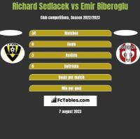 Richard Sedlacek vs Emir Biberoglu h2h player stats
