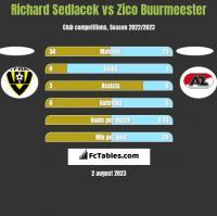 Richard Sedlacek vs Zico Buurmeester h2h player stats