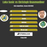 Luka Susic vs Christoph Knasmuellner h2h player stats
