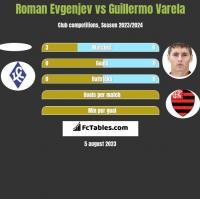 Roman Evgenjev vs Guillermo Varela h2h player stats