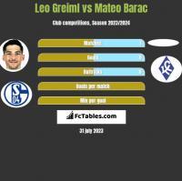 Leo Greiml vs Mateo Barac h2h player stats