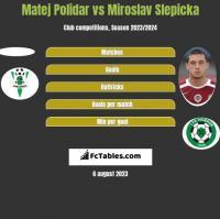 Matej Polidar vs Miroslav Slepicka h2h player stats