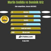 Martin Cedidla vs Dominik Kriz h2h player stats