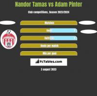 Nandor Tamas vs Adam Pinter h2h player stats