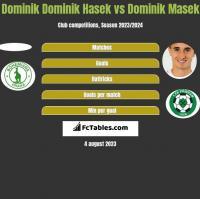Dominik Dominik Hasek vs Dominik Masek h2h player stats