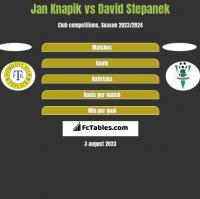Jan Knapik vs David Stepanek h2h player stats
