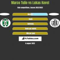 Marco Tulio vs Lukas Havel h2h player stats