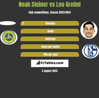 Noah Steiner vs Leo Greiml h2h player stats