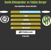 David Affengruber vs Tobias Berger h2h player stats