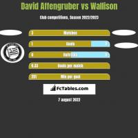 David Affengruber vs Wallison h2h player stats