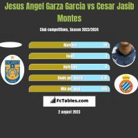 Jesus Angel Garza Garcia vs Cesar Jasib Montes h2h player stats