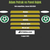 Adam Petrak vs Pavel Hajek h2h player stats