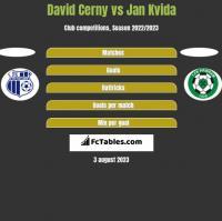 David Cerny vs Jan Kvida h2h player stats