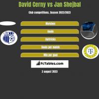 David Cerny vs Jan Shejbal h2h player stats