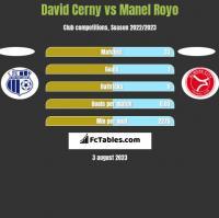 David Cerny vs Manel Royo h2h player stats